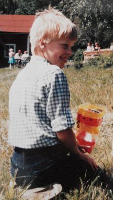 Minä noin 10-vuotiaana